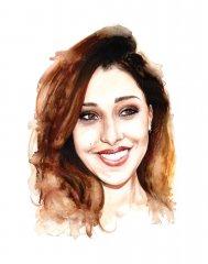 Belen Rodriguez (Watercolour on paper)