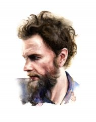 Jovanotti (Watercolour on paper)