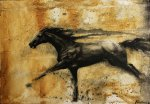 Horse (Guache on wood panel)