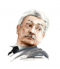 Massimo D'Alema (Watercolour on papaer)