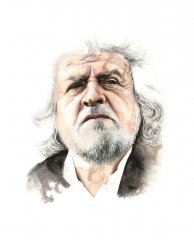 Beppe Grillo (Watercolour on paper)